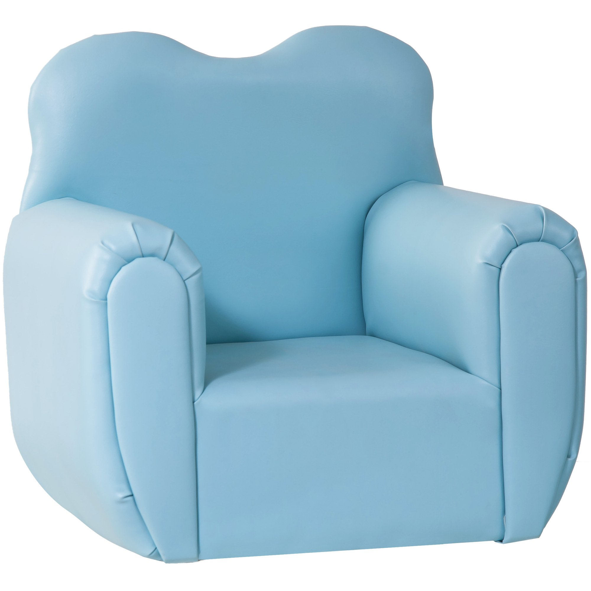 Harper&Bright Designs PP038175 Kids Sofa Children Armrest Chair, 19.7'' L x13.8 W x 19.7'' H, Blue