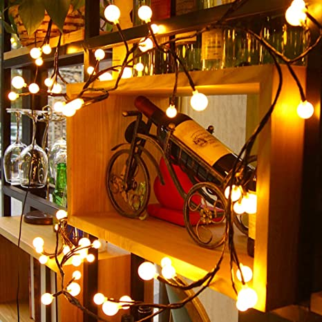 Globe decorative string lights baiyunpoy 83ft 72 led hanging globe decorative string lightsbaiyunpoy 83ft 72 led hanging indooroutdoor string lights aloadofball Gallery