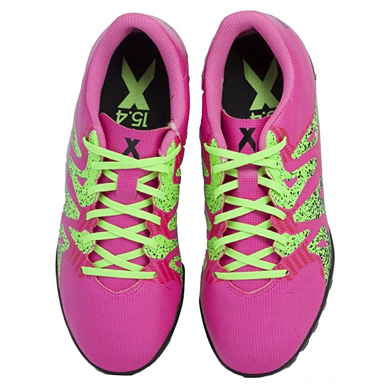 Bota jr X 16.4 Turf Shock pink-Solar green-Core black Talla 3 UK D7CBWNvEkg