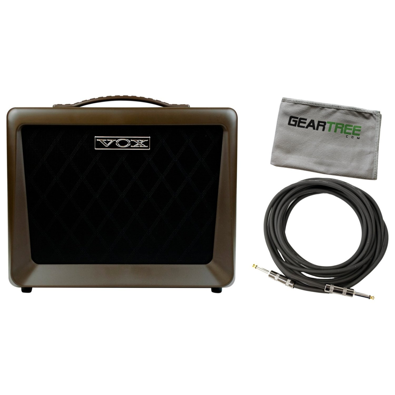Vox VX50AG Acoustic Guitar Amplifier 50 Watts Two Channels w/ Cable and Geartree by Vox