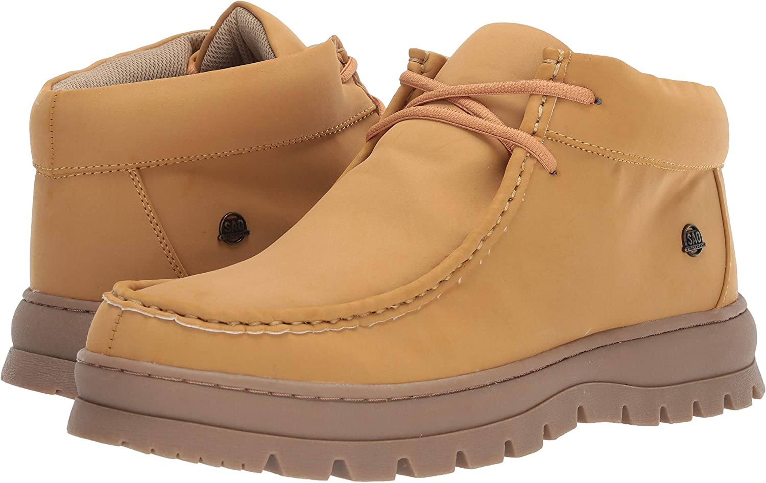 STACY ADAMS Mens Wally Moc Toe Lace-up Chukka Boot Sneaker