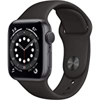 Apple Watch Series 6 40mm GPS Smartwatch (Space Gray Aluminum Case with Black Sport Band)