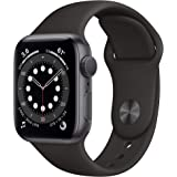 Apple Watch Series 6 (Space Grey Aluminium, 40mm, Black Sport Band, GPS Only)