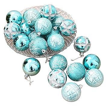 Christbaumkugeln Anhänger.Feiliandajj 6cm Eine Schachtel Mit 24 Weihnachtskugeln Weihnachten Deko Anhänger Christbaumkugeln Dekorationen Kugeln Party Hochzeit Ornament Blau