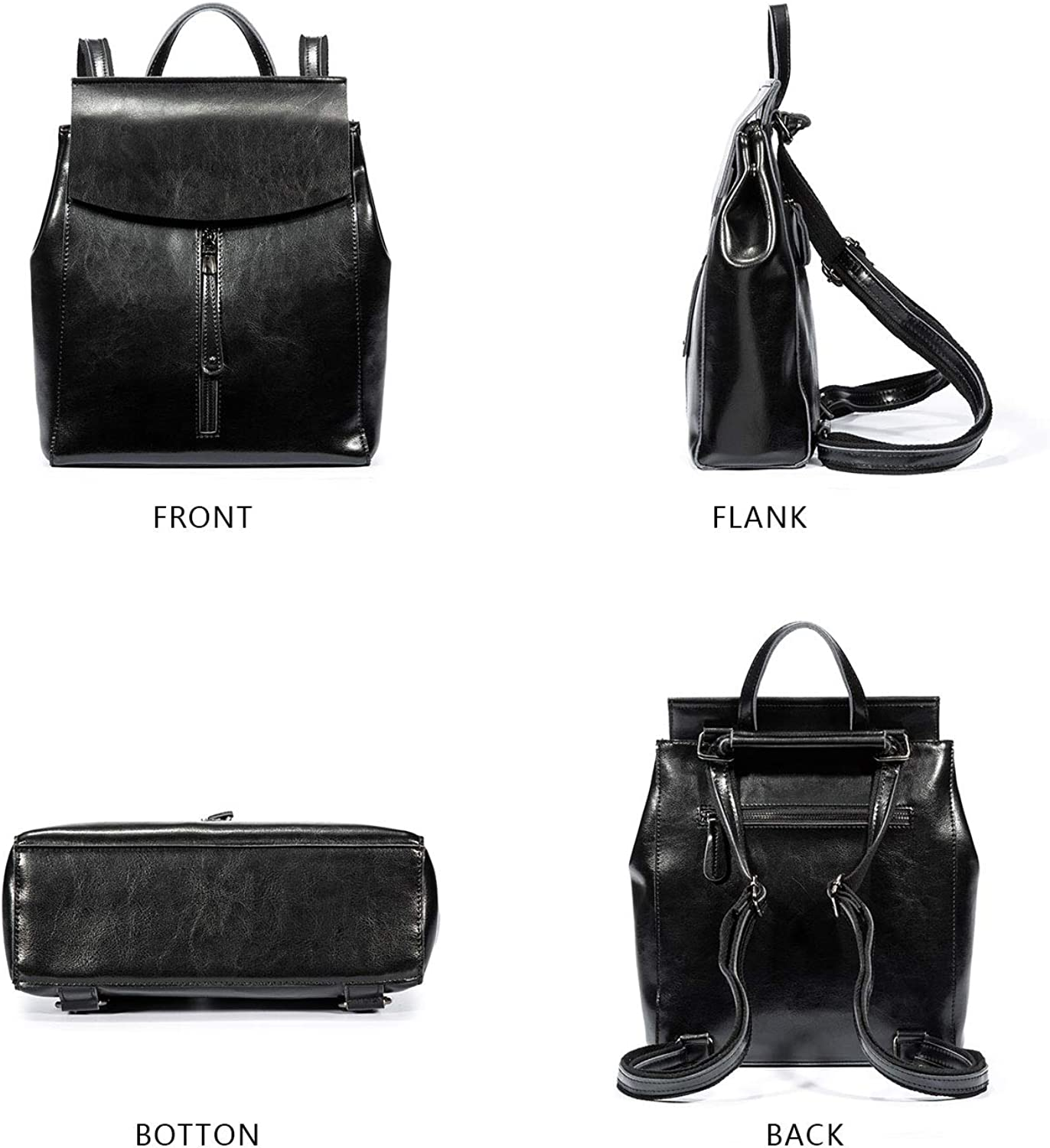 Women/'s Genuine Leather Fashion Backpack Purse Casual Shoulder Bag School Bag Tote for Ladies and Girls /…