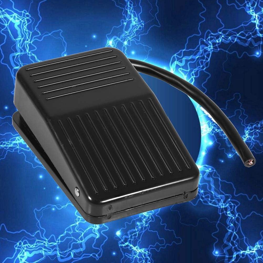 Interruptor de Pedal de Pl/ástico de Energ/ía El/éctrica Bot/ón AC 250V 10A SPDT NO NC Antideslizante de momentanea de alimentacion de Negro
