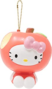 Sanrio Hello Kitty Fruit and Veggie Slow Rising Cute Squishy Toy Keychain Birthday Gifts, Party Favors, Stress Balls for Kids, Boys, Girls - Apple