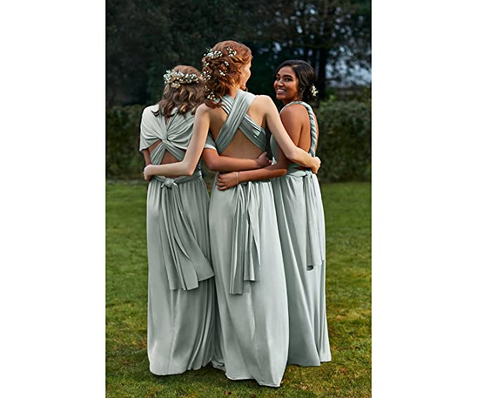 57629563a489 Oasis Annie Multiway Pale Grey Silver Occasion Slinky Maxi Dress RRP £90  6-16 (Small (10)): Amazon.co.uk: Clothing