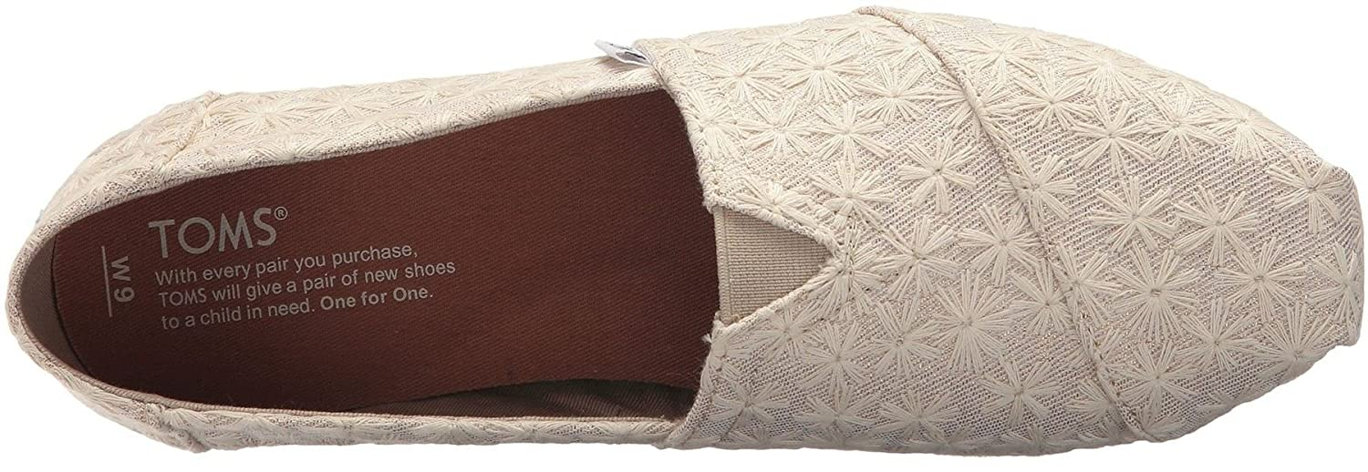 638eb2db733 TOMS Classic Natural Daisy Metallic Womens Espadrilles Shoes  Amazon.co.uk   Shoes   Bags