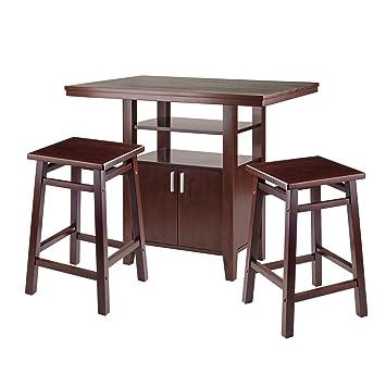 Amazon.com: Winsome Wood 94753 Albany - Juego de mesa (3 ...