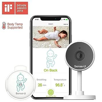 Monitor de bebé Sense-U con sensor de temperatura de movimiento de ...