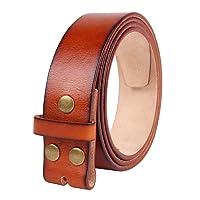 """NPET Men's Genuine Leather Belt Full Grain Snap On Belts 1.5"""" Wide"""