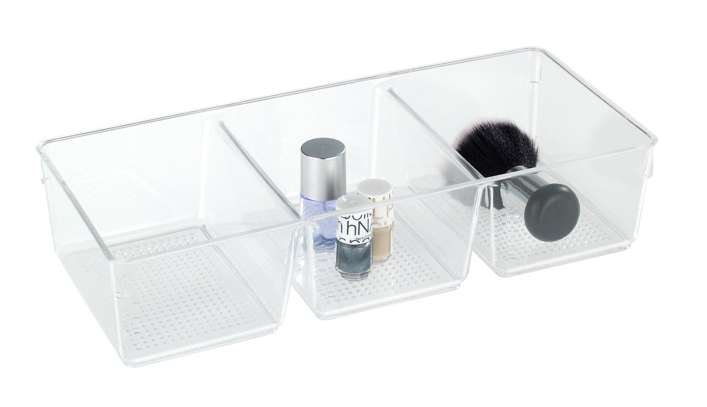 WENKO Cosmetic Organizer Femme 3 compartments, Acrylic 34 x 15 x 7.5 cm