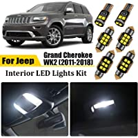 17pcs Interior LED Lights Kit LED Map Dome Vanity Mirror License Plate Lights Replacement Bulbs for Jeep Grand Cherokee…