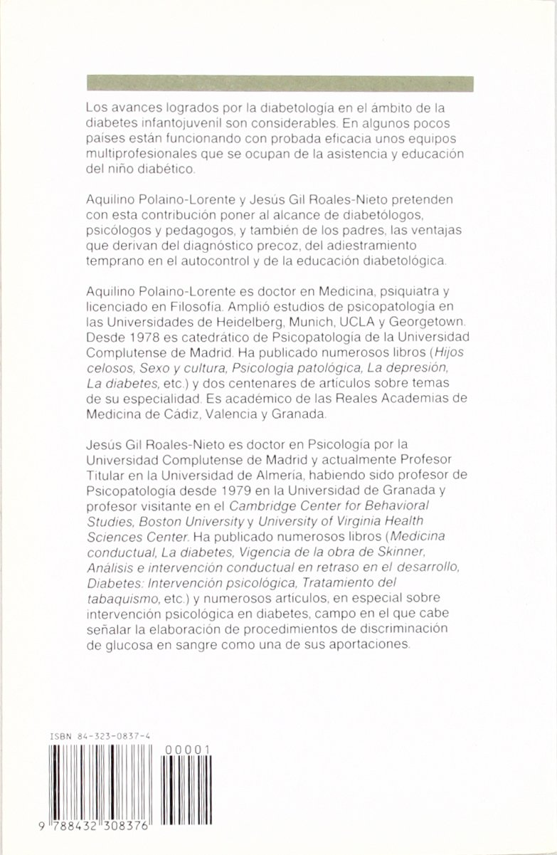 Psicologia y diabetes infanto-juvenil (Spanish Edition): Jesus Gil Aquilino Polaino-Lorente : 9788432308376: Amazon.com: Books
