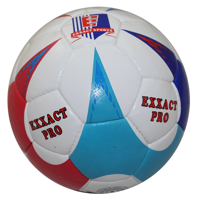 Exxact Pro Hand Stitchサッカートレーニングボールブルー B077S594S6Size 4