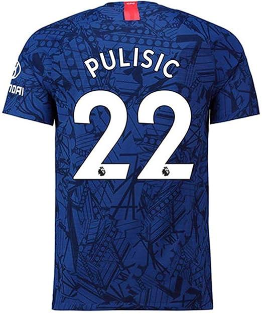 the best attitude 486c4 de1e8 Amazon.com: 2019-2020 Pulisic # 22 Chelsea Men's Home Soccer ...