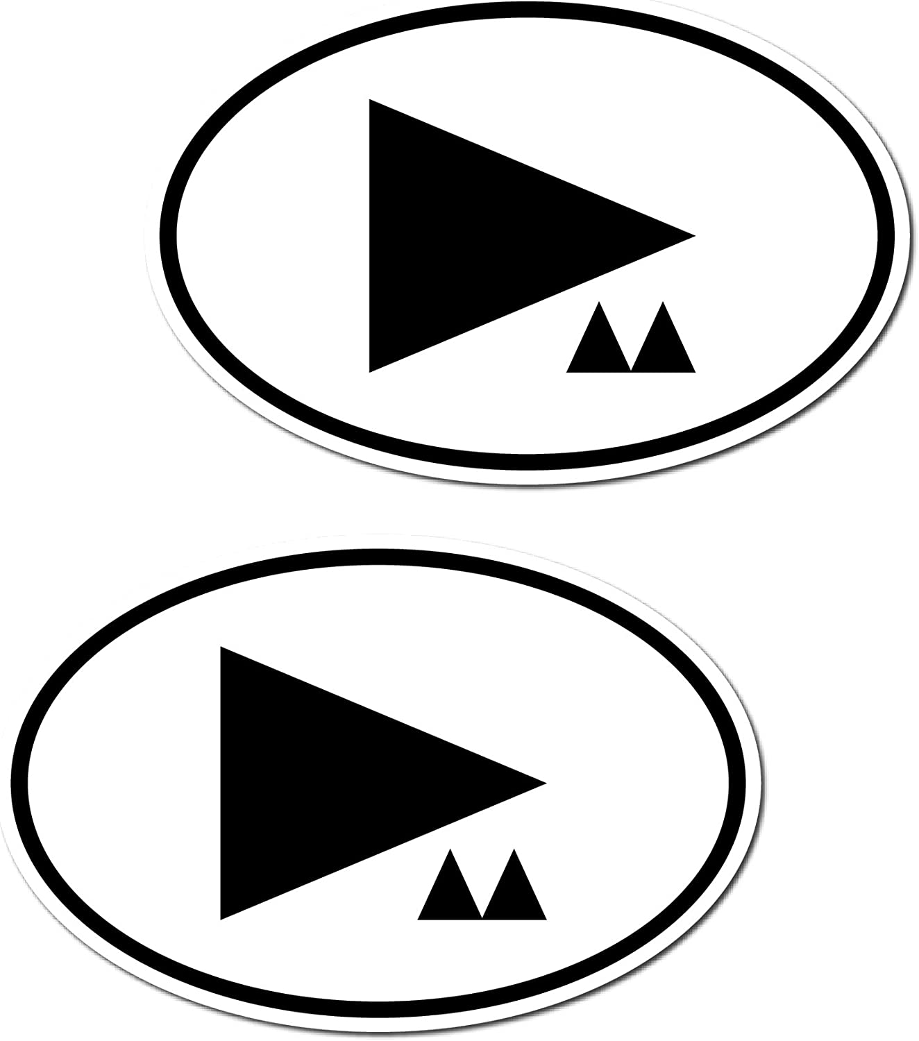 Greenit 1 Set 2 Stück 15cm Dm Symbol Länderkennzeichen Aufkleber Car Bumper Sticker Auto Heck Deko Depeche Mode Auto