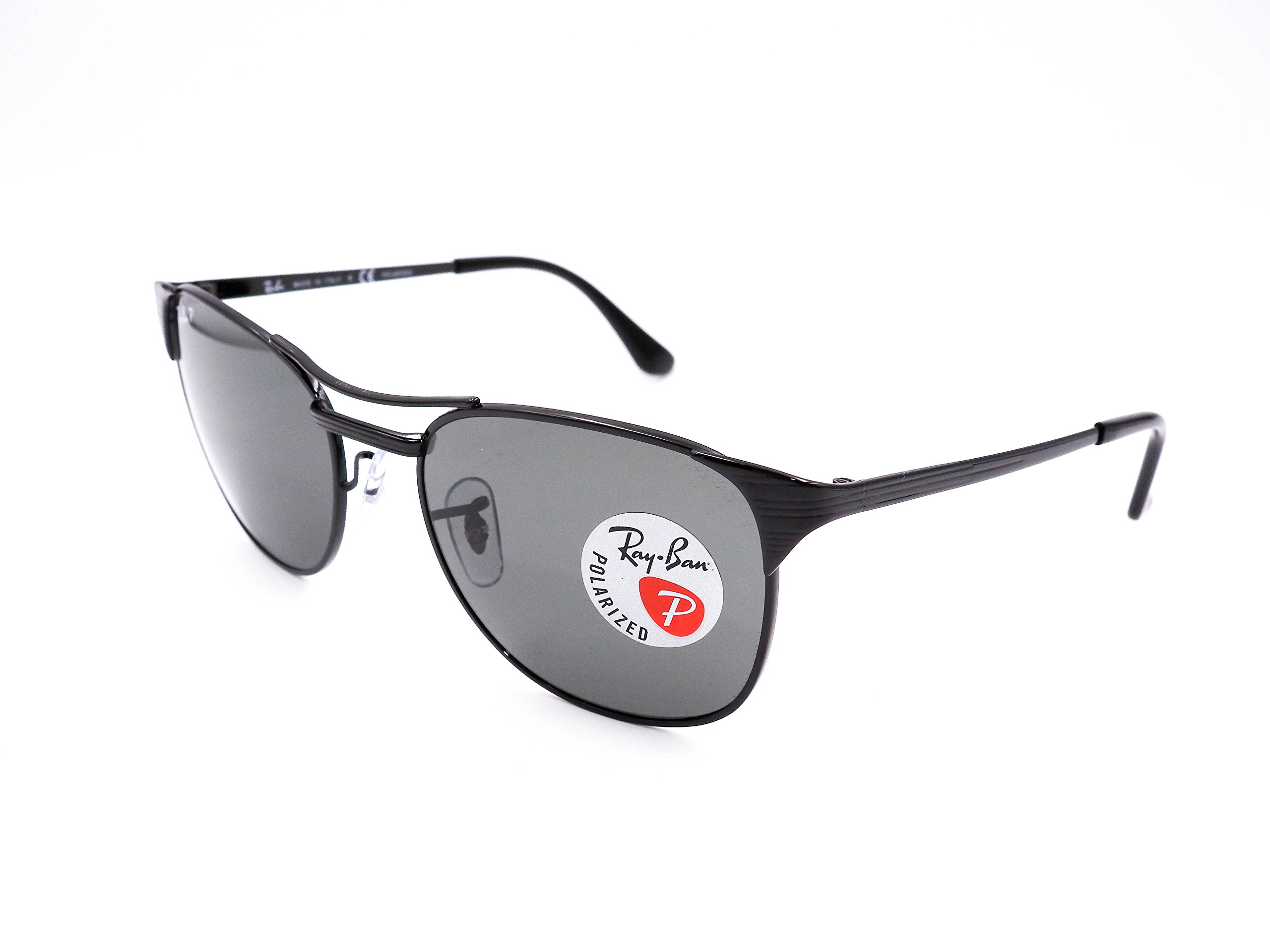Ray-Ban Signet RB3429 002/58 Sunglasses Black Frame 55mm w/ Polarized Crystal Green Lens                                      by Ray-Ban