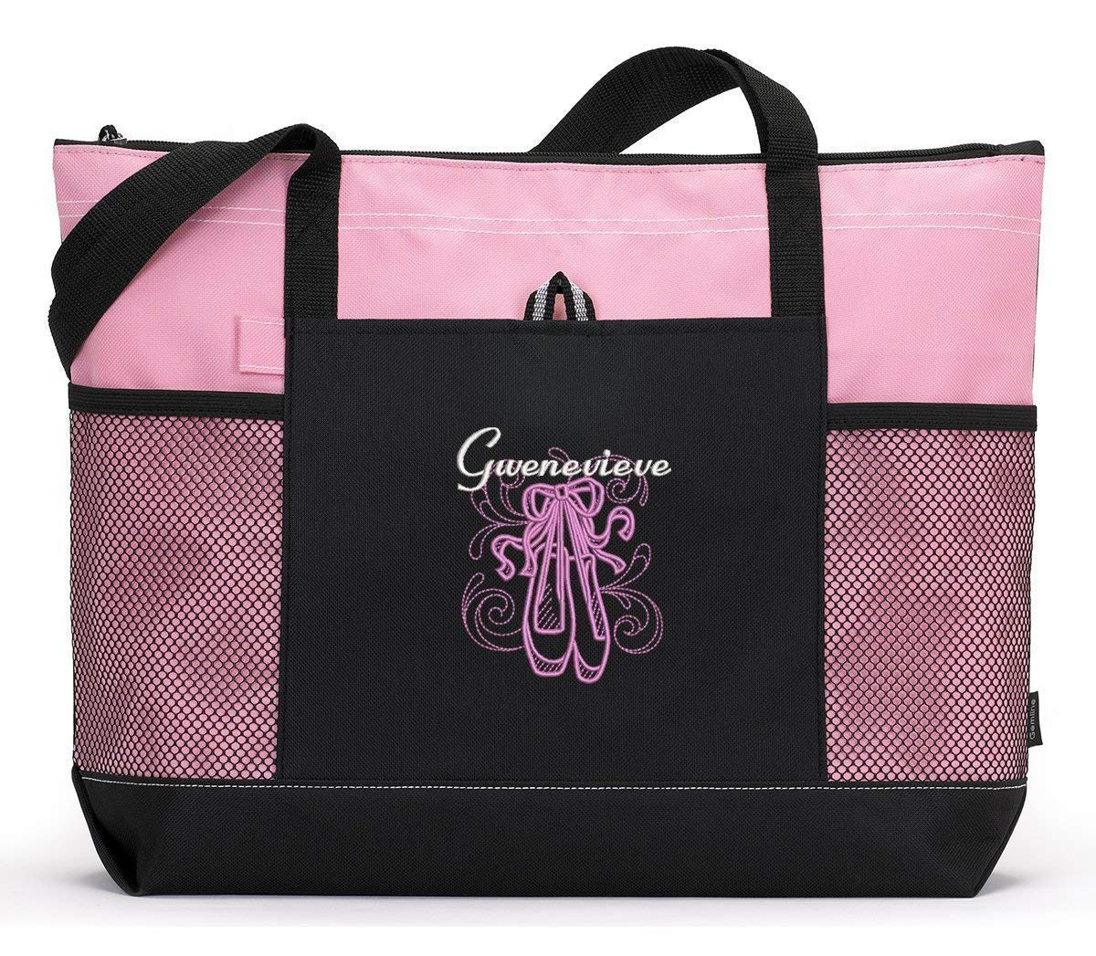 En Pointe Ballet Embroidered Zippered Tote Bag