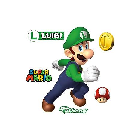 Amazon.com: FATHEAD Luigi-Large Officially Licensed Nintendo ...