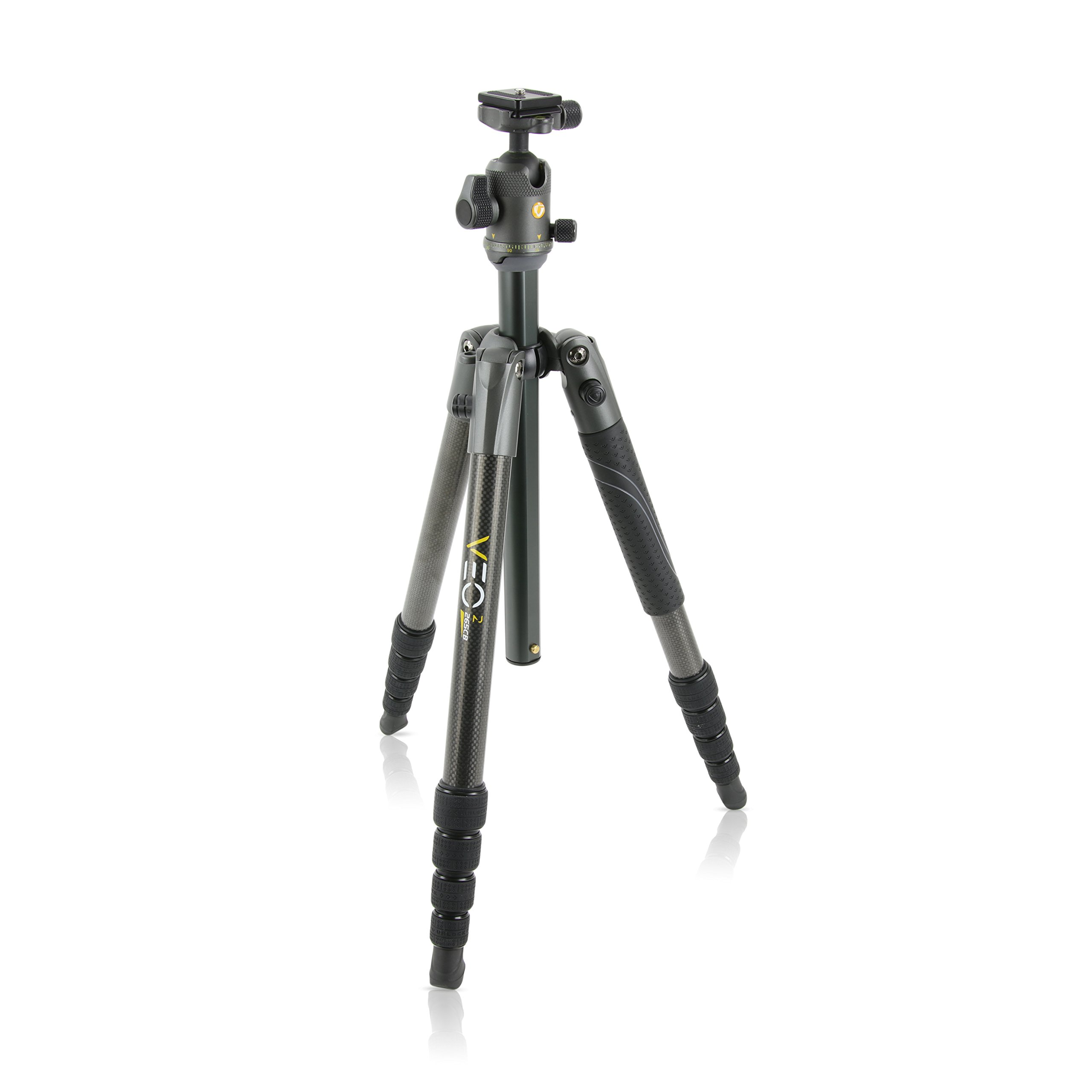 Vanguard VEO 2 265CB Carbon Fiber Travel Tripod with VEO 2 BH-50 Ball Head for Sony, Nikon, Canon, Fujifilm Mirrorless, Compact System Camera (CSC), DSLR by Vanguard