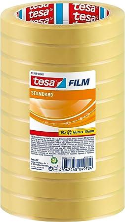 10 x Tesa 57376 Ultra Strong PVC-Klebeband Tesafilm Je 33 Meter lang 15 mm breit