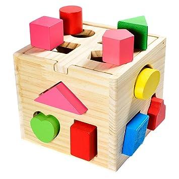 GOKI Steckspiel BÄR Sortierspiel Motorikspiel Holz Kinder Spielzeug Lernspiel Steckspiele