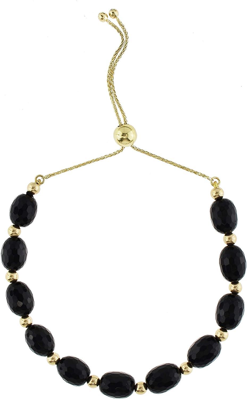 Spinel Black Spinel Adjustable Gold Bracelet Gemstone Jewelry Black /& Gold   Stacking Bracelet Delicate Black Gemstone Bracelet