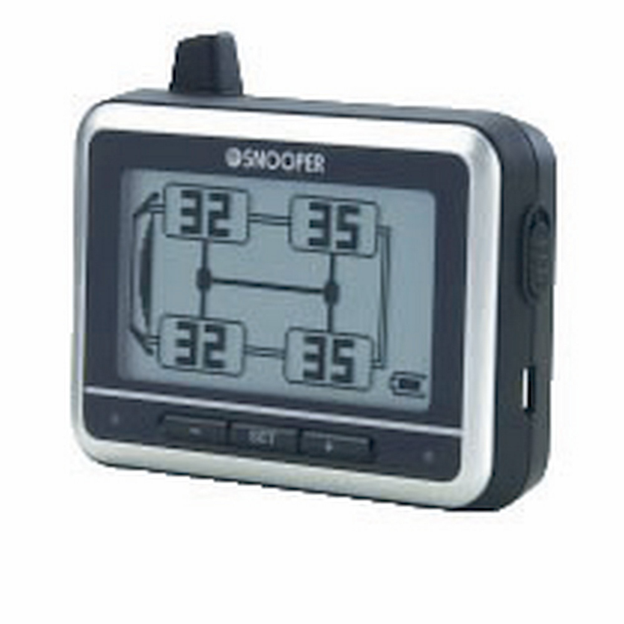 Snooper Tyre Pilot Tyre/Tire Pressure Monitoring Display Unit And Sensors (One Size) (Black/Silver)