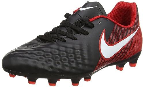 Jr Magista Ola II FG, Botas de Fútbol para Niños, Negro (Negro/Rojo Universitario/Carmesí Brillante/Blanco 061), 32 EU Nike
