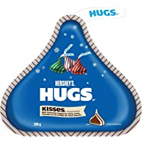 HERSHEYS HUGS Chocolate Candy with White Crème (Red, Green, and Silver Foils),  200 Gram