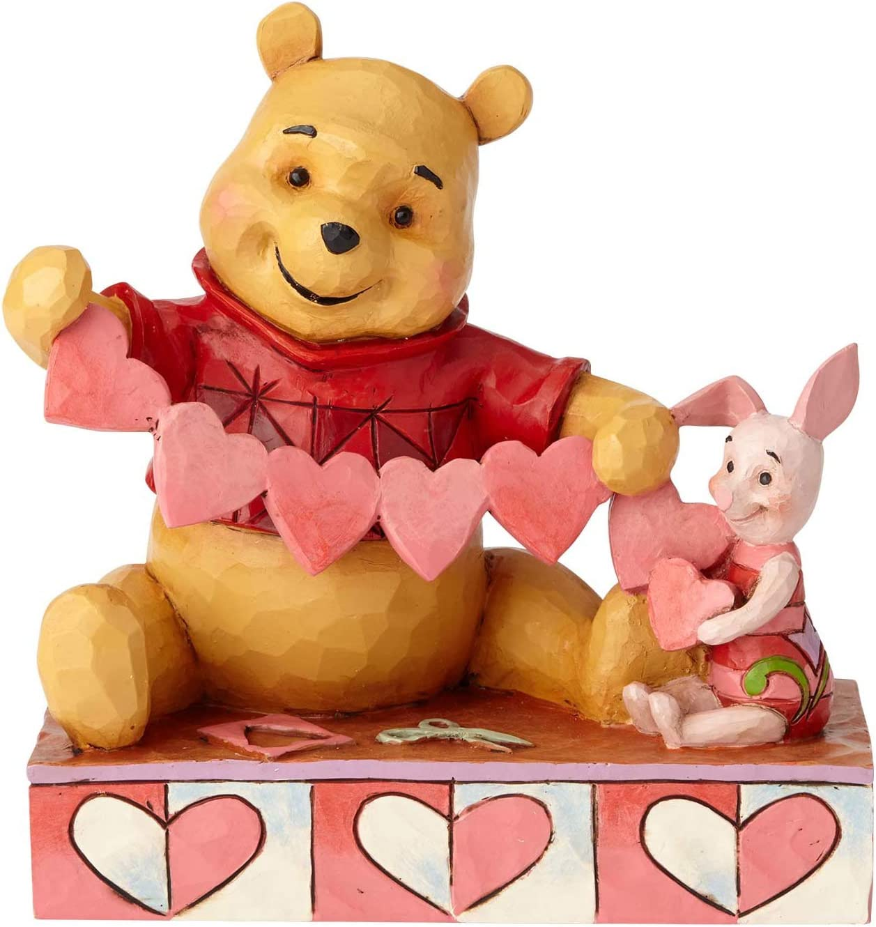 """Enesco Disney Traditions by Jim Shore Pooh and Piglet Handmade Valentines Figurine, 5.5"""", Multicolor"""