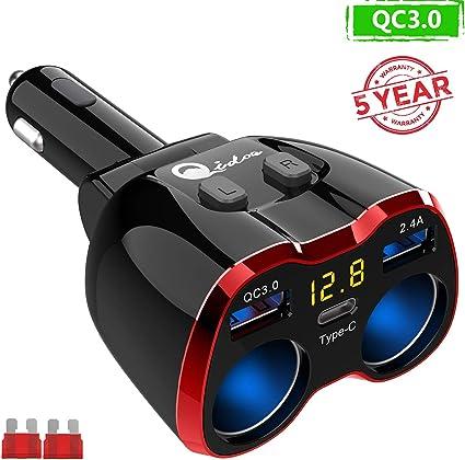 Dual USB Car Cigarette Lighter Socket Splitter 12V`Charger Power Adapter`Outl Lo