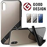 【Campino】(Mirror) iPhone XSケース OLE stand スタンド機能 耐衝撃 スリム 動画 【国内正規代理店】 (champagne Gold)