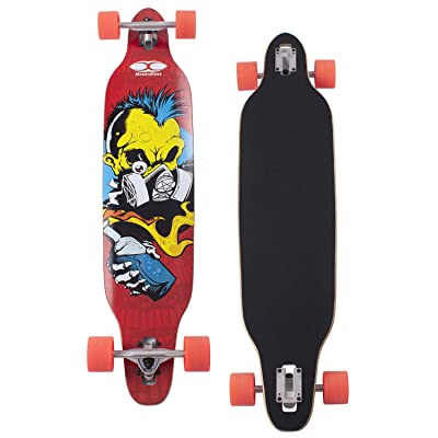"Movendless YD-0012 Longboard 42"" Inches Drop Through Complete Skateboard 7 Layer Canadian Maple Wood Skate Board : Sports & Outdoors"