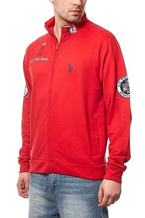 659b8a9cad9a U.S. POLO ASSN. Sweat Jacket Full Zip Sweat à Capuche Homme Rouge ...