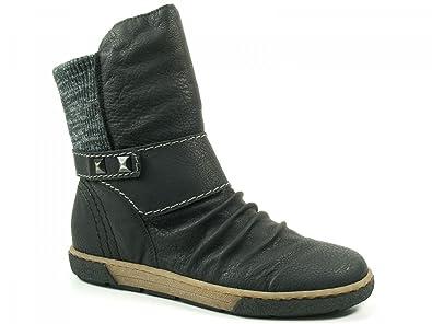 timeless design ed1f0 d7fd8 Rieker Schuhe Damen Boots Stiefeletten Wollfutter Z7771 ...