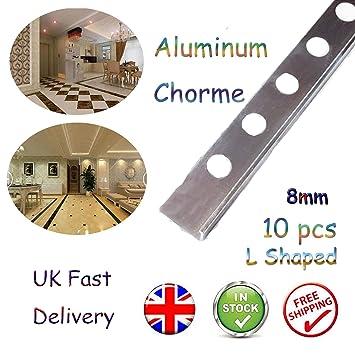 Tapacubos de aluminio resistente y duradero, bordes redondos y en forma de L, 2