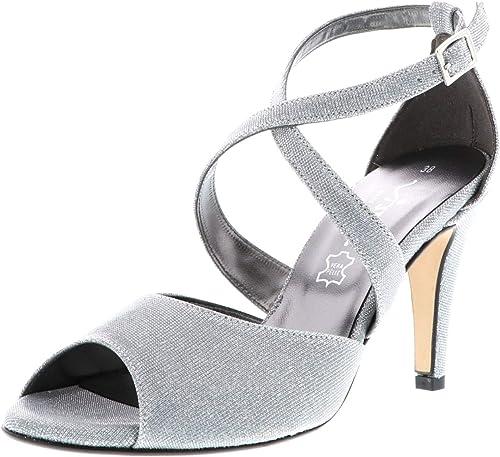 Vista Damen Sandaletten Silber: : Schuhe & Handtaschen