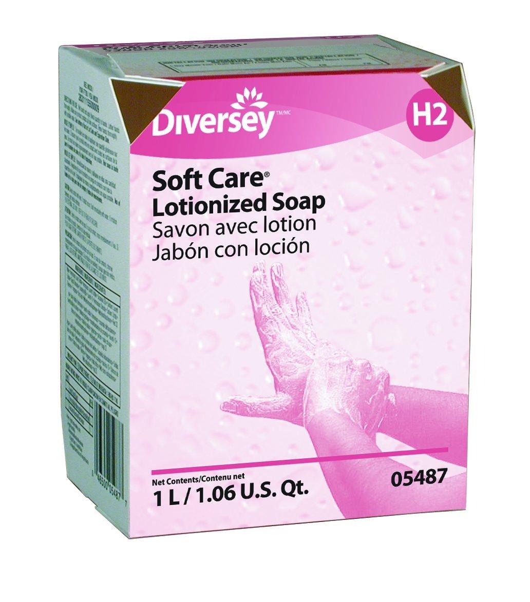 Diversey Soft Care 05487 Lotionized Soap, 12 x 1 L/1.06 US quart (Pack of 12)
