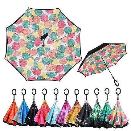 e8cbe960242d3 Amazon.com: Gorgebuy Reverse Umbrella - Double-Layer Inverted ...