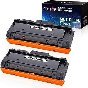 CMTOP 2 Pack MLT-D116L Black Toner Compatible for Samsung 116L MLTD116L MLT-D116L Toner Cartridge, High Yield, for Samsung Xpress SL-M2835DW SL-M2825DW SL-M2875FW SL-M2885FW SL-2625D Wireless Printer