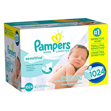 Pampers Sensitive Baby Wipes 1024