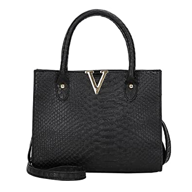 COOKI Womens Purses and Handbags Ladies Alligator Pattern Fashion PU Leather Simple Crossbody Handbags Designer Satchel