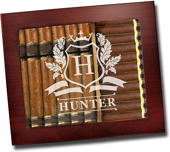 Groomsmen Gift Anniversary Gift V452YL Travel Cigar Humidor Personalized Built-in Humidor /& Hygrometer Cigar Case Engraved Birthday Gift