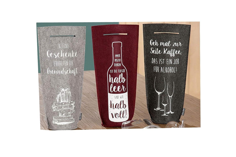 Handwerk Geschenktaschen Flaschentaschen für Wein aus Filz mit ...