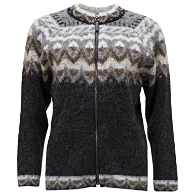 6b46c8156744 ICEWEAR Unnur Icelandic Zip-through Wool Sweater at Amazon Women s ...