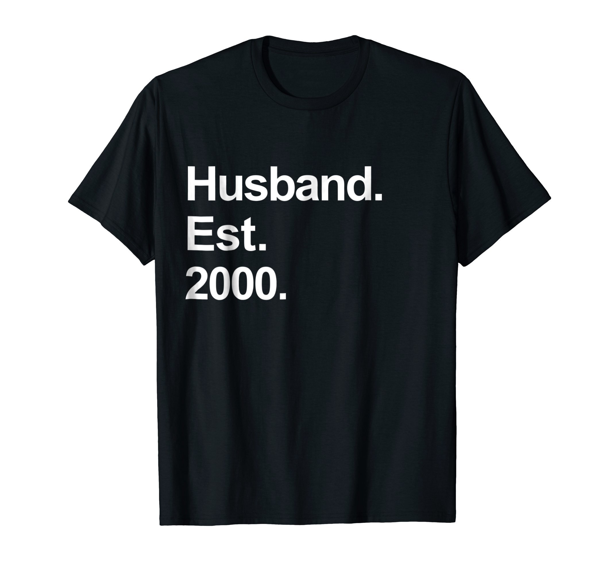 Mens 18th Wedding Anniversary Gifts - Husband Est 2000 Shirt by Awesome Husband and Wife Wedding Couples Shirts (Image #1)