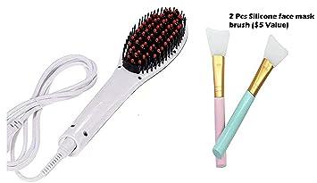 Amazon.com: Cepillo alisador de pelo de cerámica. Peine ...